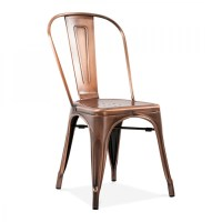 Xavier Pauchard Style brushed Copper Side Chair | Cult ...
