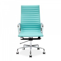 Turquoise Eames Style Ribbed Office Chair | Executive ...