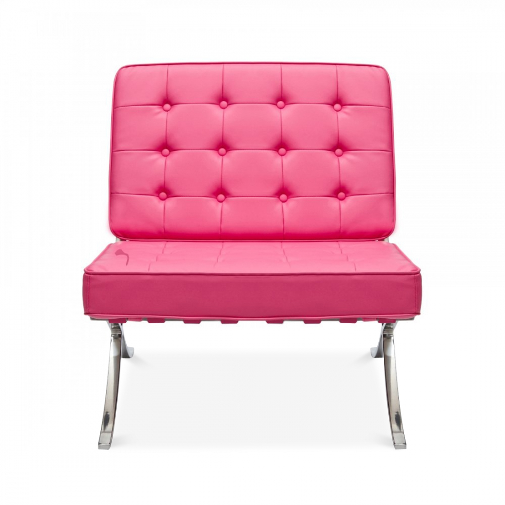 Mies van der Rohe Style Pink Barcelona Chair  Cult UK