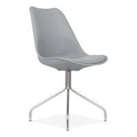Dining Chair with Metal Cross Legs Cool Grey | Restaurant ...