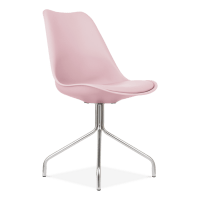 Pastel Pink Style Dining Chair With Metal Legs | Cult ...