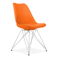 Eiffel Chair Wood Legs Small Lounge Chairs Orange Dining With Metal   Modern Cult Uk