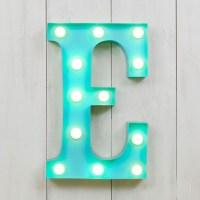"E Vegas Metal 11"" Mini LED Letter Lights | Marquee Letters ..."