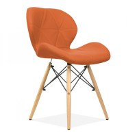 Eames Inspired Upholstered Orange Butterfly Dining Chair ...