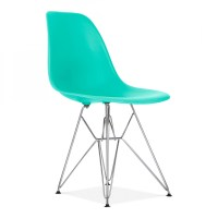 Turquoise Eames DSR Eiffel Chair | Cafe & Side Chairs ...