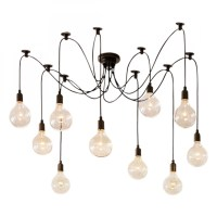 Edison Spider Lamp in Black