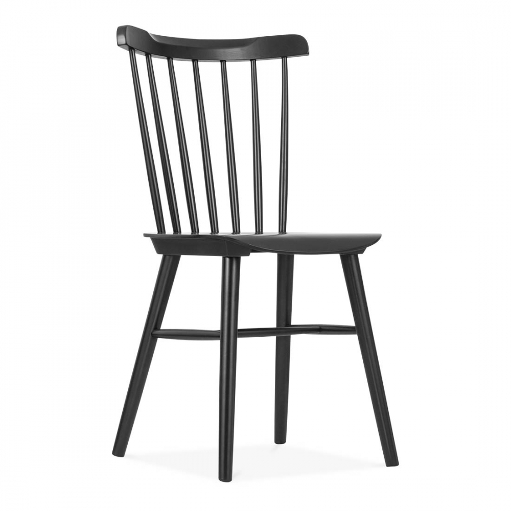 Windsor Wooden Chair in Black by Cult Living  Dining