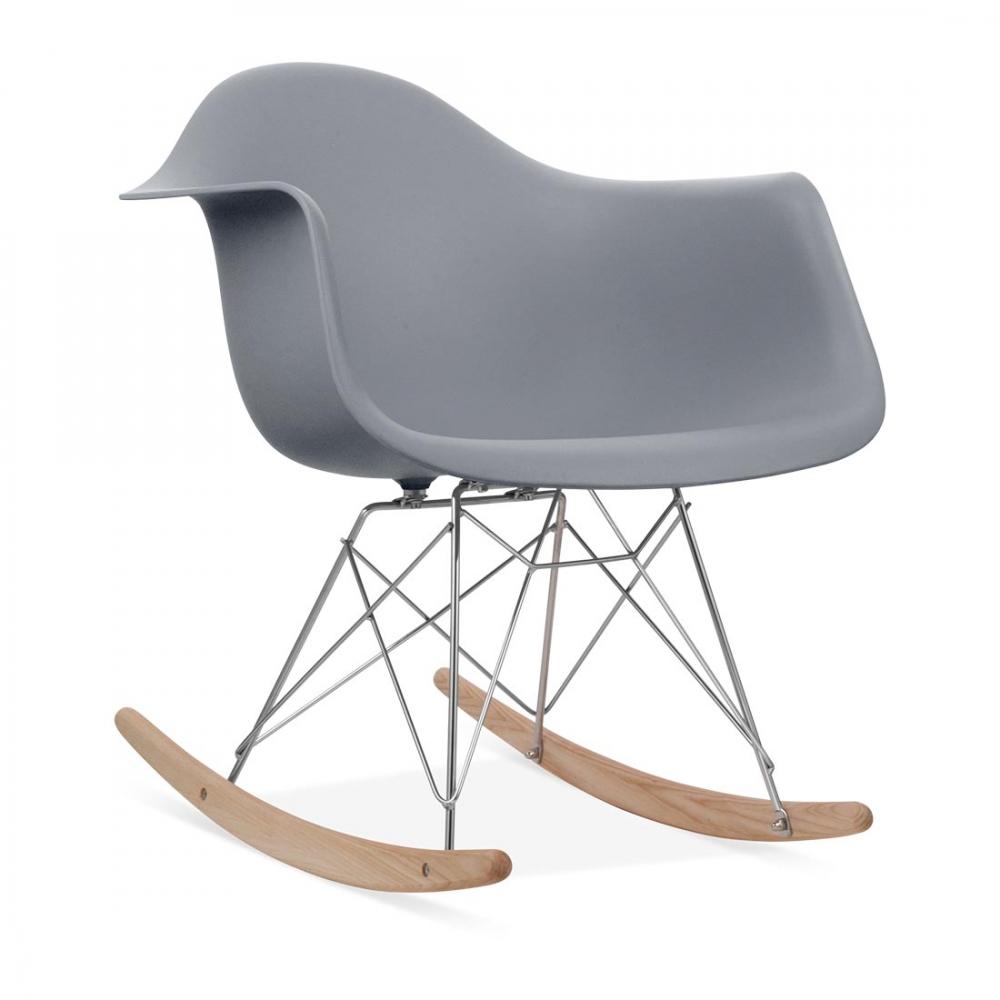 Eames Style Grey RAR Rocker Chair