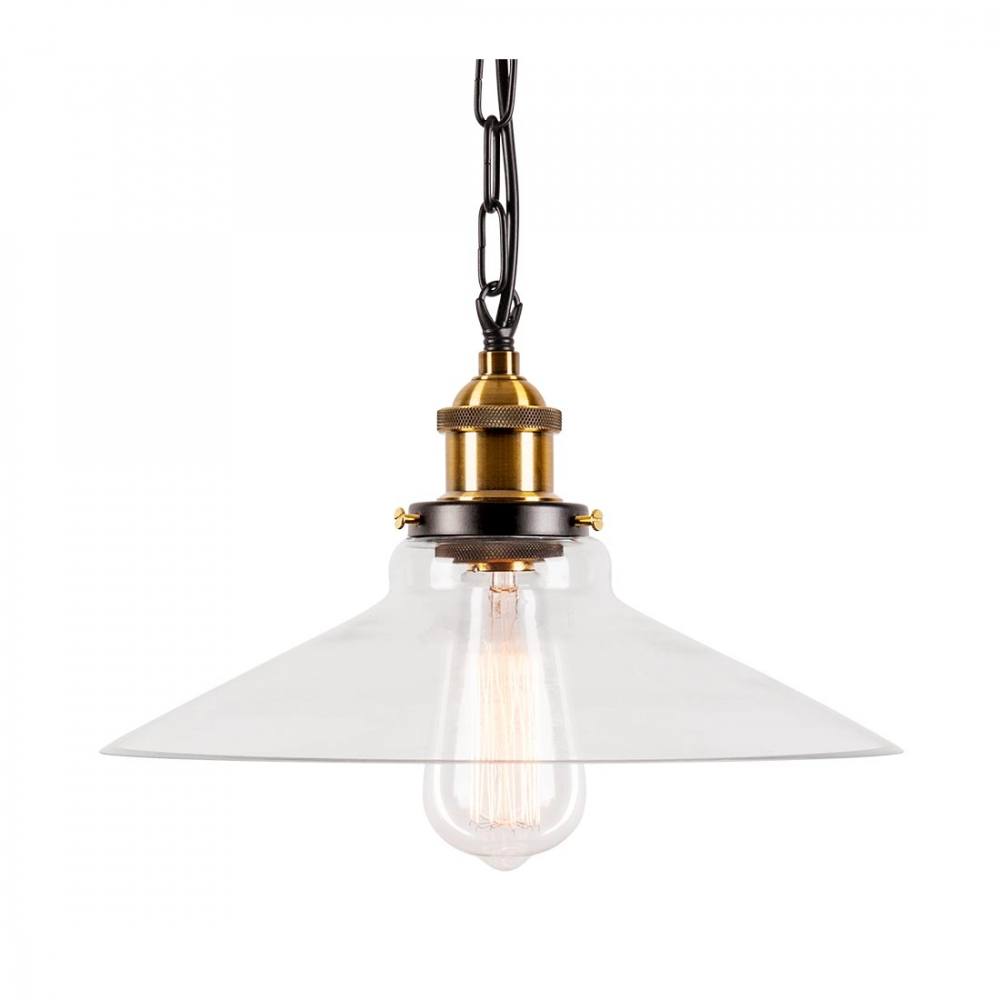 Industrial Strasbourg Glass Pendant Light & Hanging Rope
