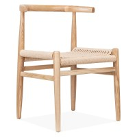 Cult Living Nordic Chair in Natural Wood With Weave Seat