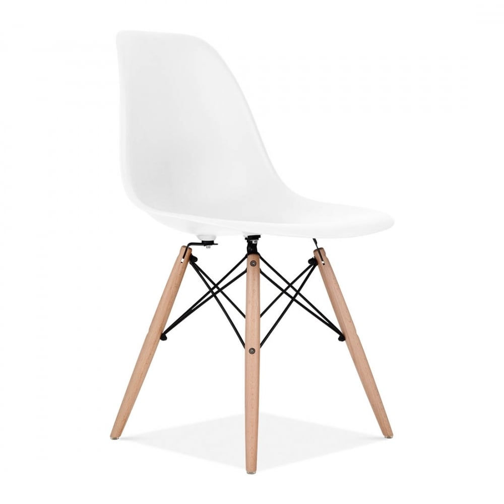 Eames Style White DSW Chair  Cafe  Side Chairs  Cult