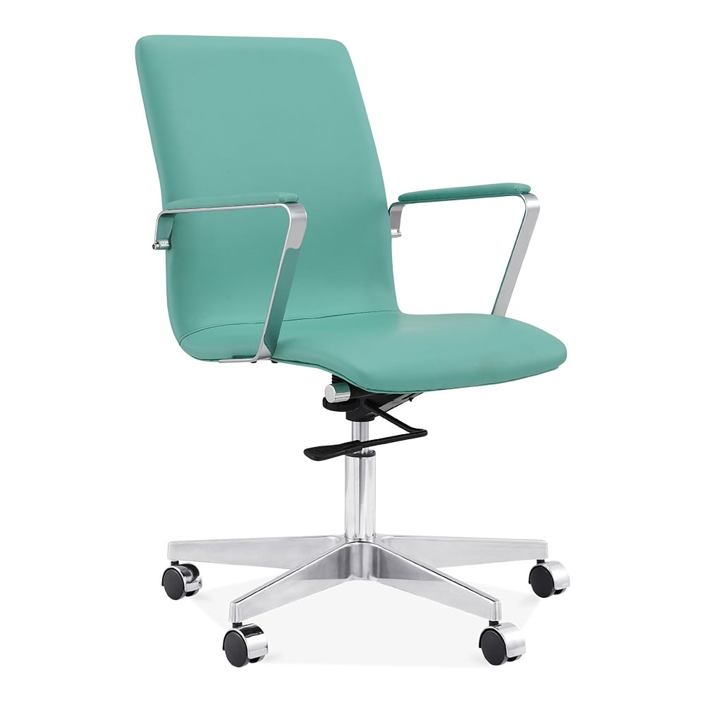 Cult Living Barclay Slim Back Turquoise Office Chair  Cult UK