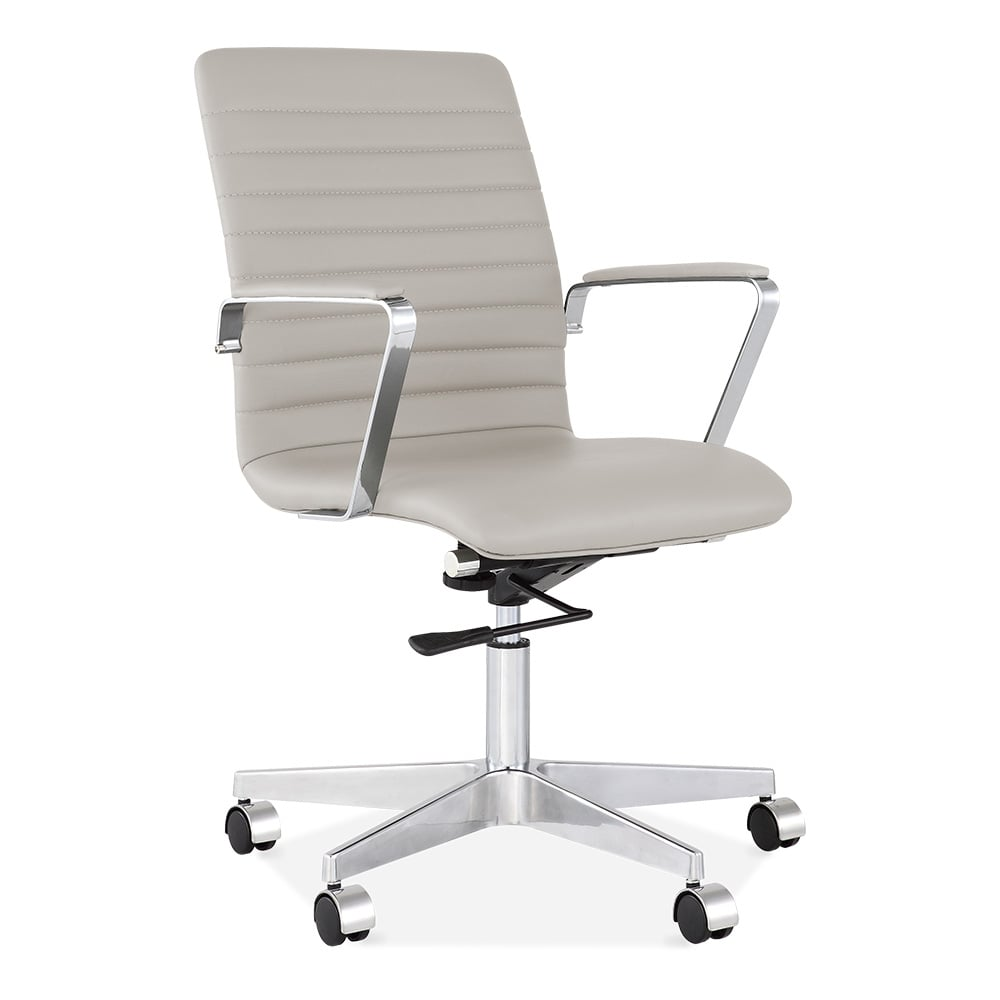 Cult Living Barclay Ribbed Back Smokey Grey Office Chair