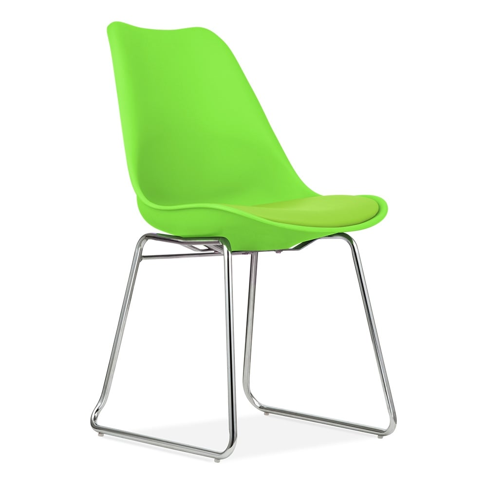 Green Dining Chairs with Soft Pad Seat  Restaurant Chairs