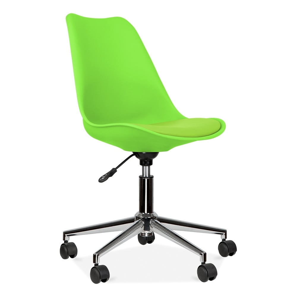 Eames Inspired Lime Green Office Chair With Castors  Cult UK