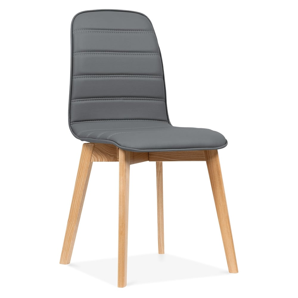 Cult Living Grey Meyer Faux Leather Dining Chair  Cult