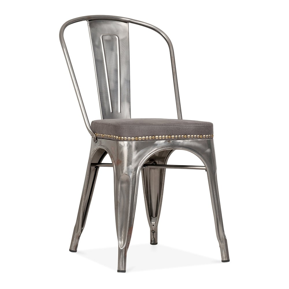 tolix chair cushion living room swivel chairs gunmetal side with seat | cult uk