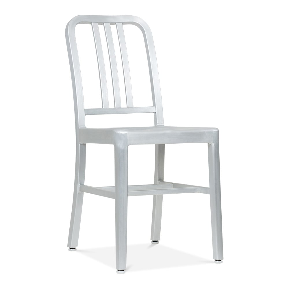 Metal Dining Chair 1006 Silver Anodized  Restaurant