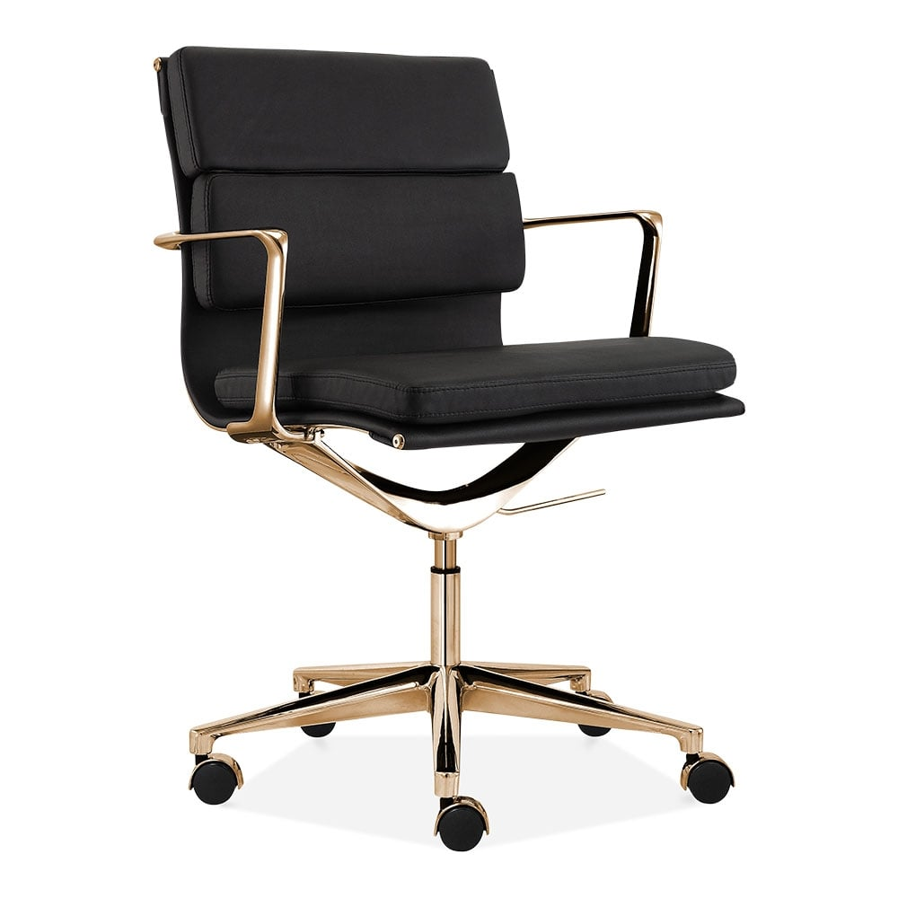 Cult Living Black and Gold Short Back Soft Pad Office