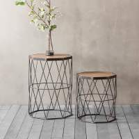 Chiltern Set of 2 Geometric Side Table | Modern Coffee Tables