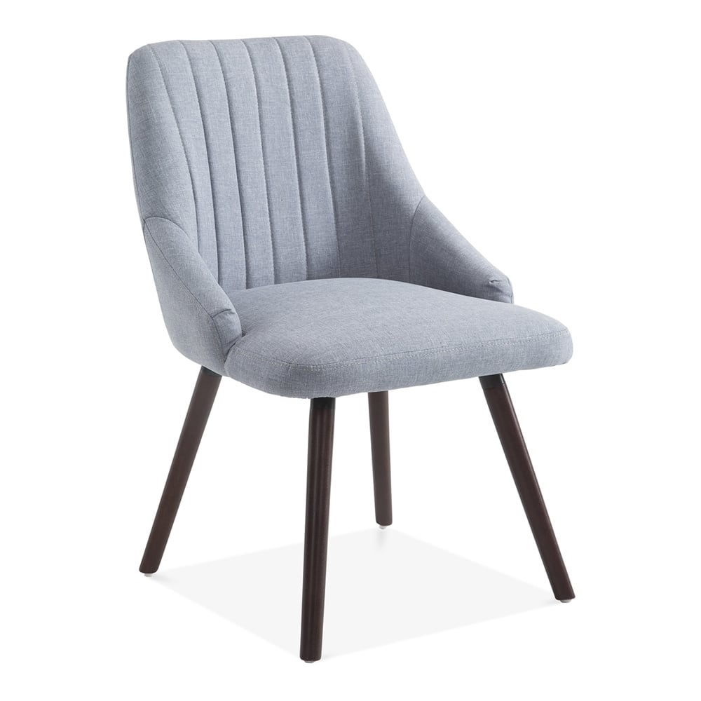 Belsize Scoop Back Diner Style Chair Light Blue Fabric