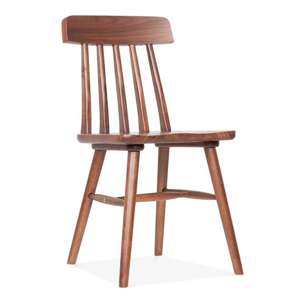 Windsor Rafter Wooden Dining Chair in Walnut  Cult