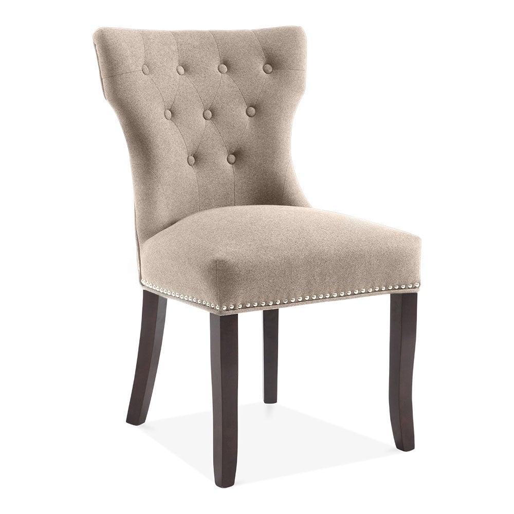 Regent Button High Back Chair Cream  Kitchen  Dining Chairs