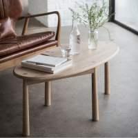 Alpine Oval Oak Coffee Table | Modern Living Room Furniture
