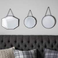 Set of 3 Vintage Style Hanging Wall Mirrors | Decorative ...