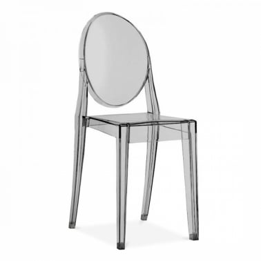 modern plastic chair chairs crate and barrel dining cult uk victoria ghost black transparent
