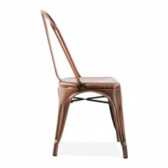 Tolix Side Chair Leather And A Half Canada Xavier Pauchard Style Brushed Copper Cult Furniture Metal