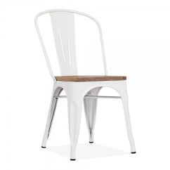 Tolix Side Chair Rocking Amazon White With Elm Wood Seat Cult Furniture