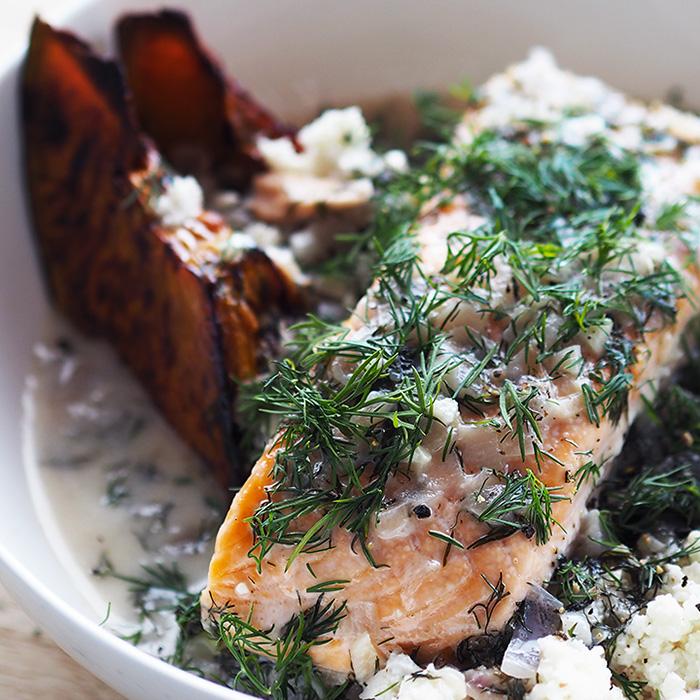 poached salmon paleo recipe
