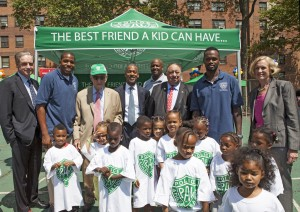 Chairman John Rhea at the PAL Play Street expansion ceremony.
