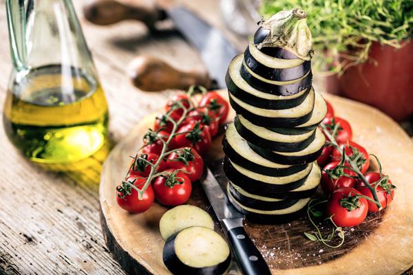 Ingrédients lasagne aubergine