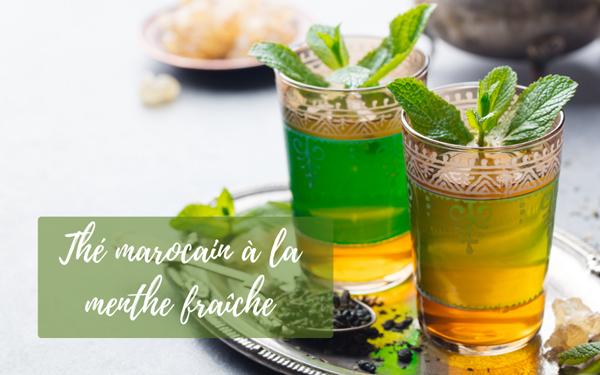 Thé marocain à la menthe fraîche