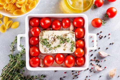 pate feta à la tomate