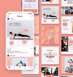 Fitness Instagram Feed Templates