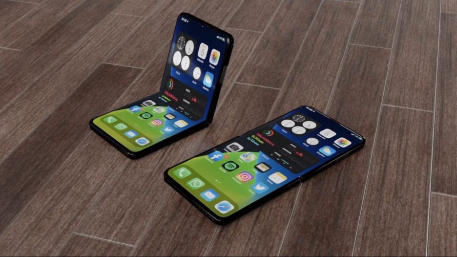 An iPhone concept shows a realistic folding iPhone design