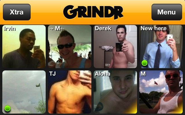 Grinder male dating site