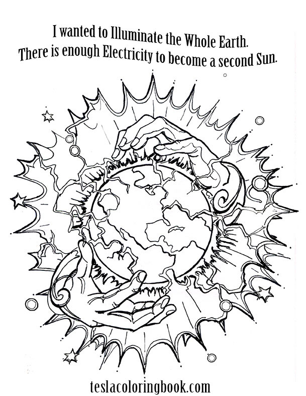 Nikola Tesla Educational Coloring Book