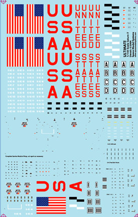 Saturn VApollo 1144 scale decals from Space Model Systems