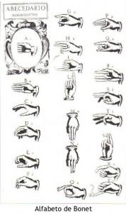 Origen del alfabeto manual usado entre nosotros