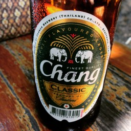 Best reward for a long trip? Chang beer at the beach