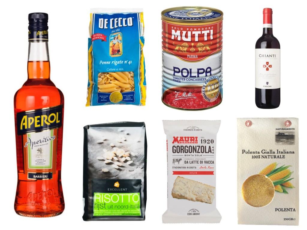 Albert Heijn Italian food products collage