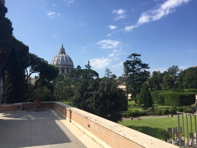 View on the dome of St Peter's Basilica