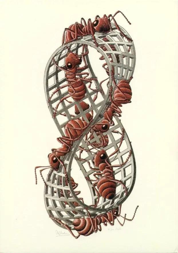 Le opere di Escher in mostra a Roma