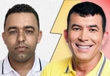 ACÁCIO TELES (34%) e EDIMÁRIO BOAVENTURA (56%): Pré-candidatos a prefeito em Mulungu do Morro - FOTO: Extraídas das capas de Facebook dos pré-candidatos.