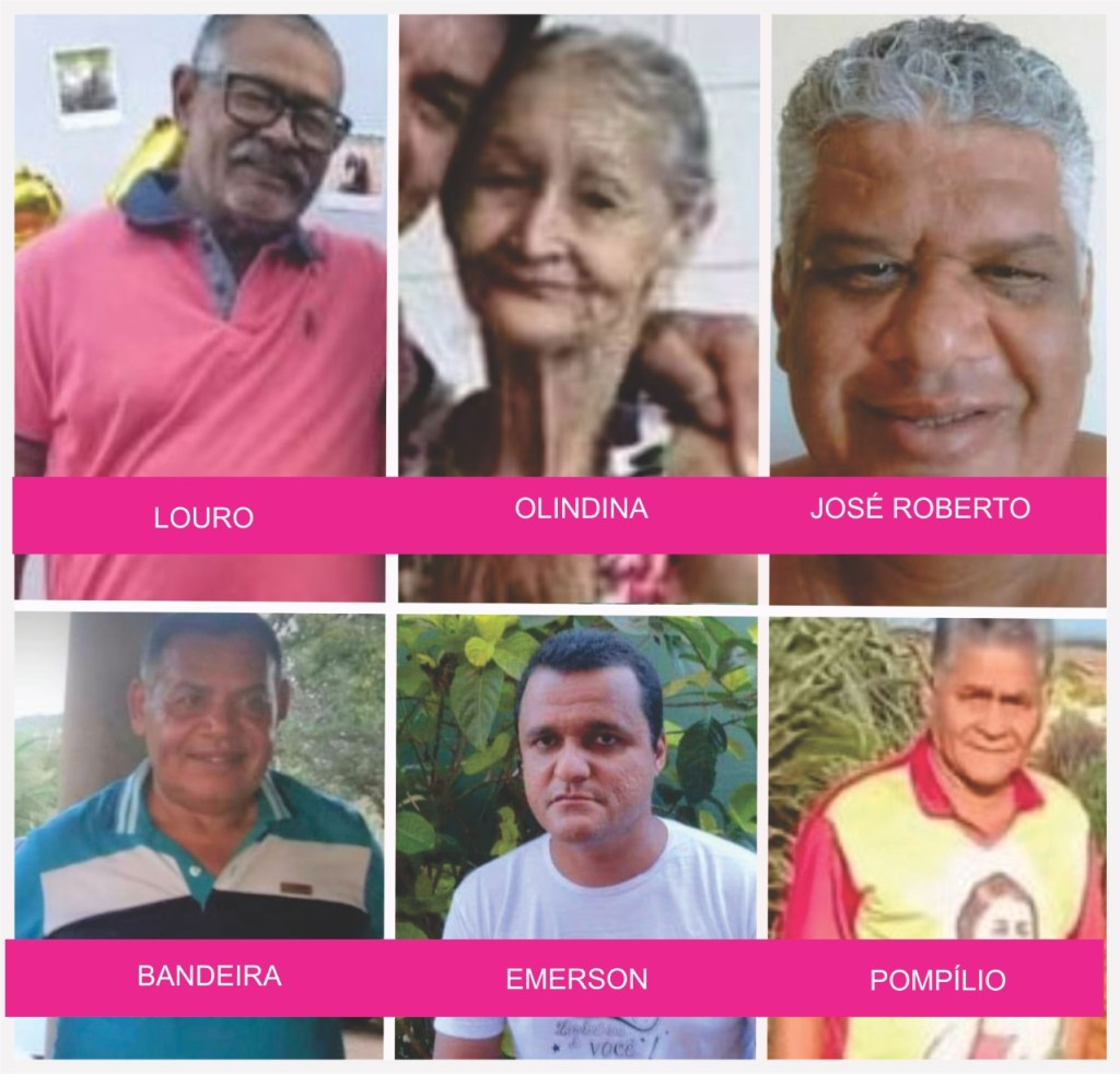 Foto mostra as vítimas da covid-19 em Uibaí