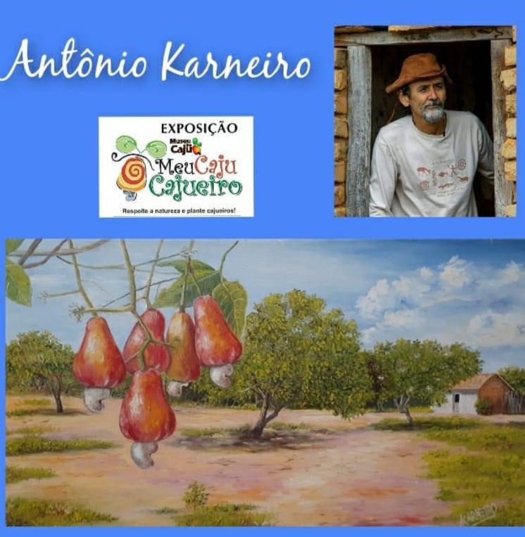 Card da exposição de arte do Museu Caju no Ceará